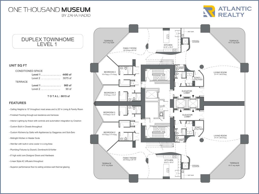 1000 museum new miami florida beach homes for 1000 museum miami floor plans