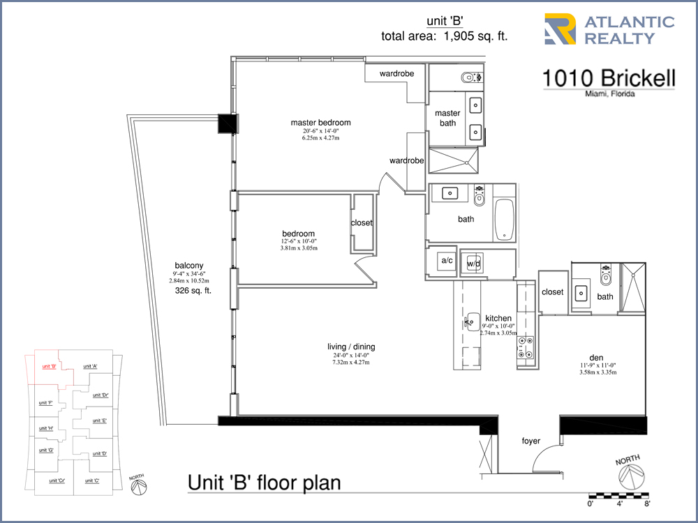 1010 brickell B floor plan