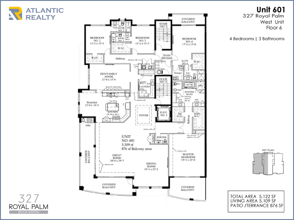 Boca raton 327 royal palm new miami florida beach homes for Florida floor plans for new homes