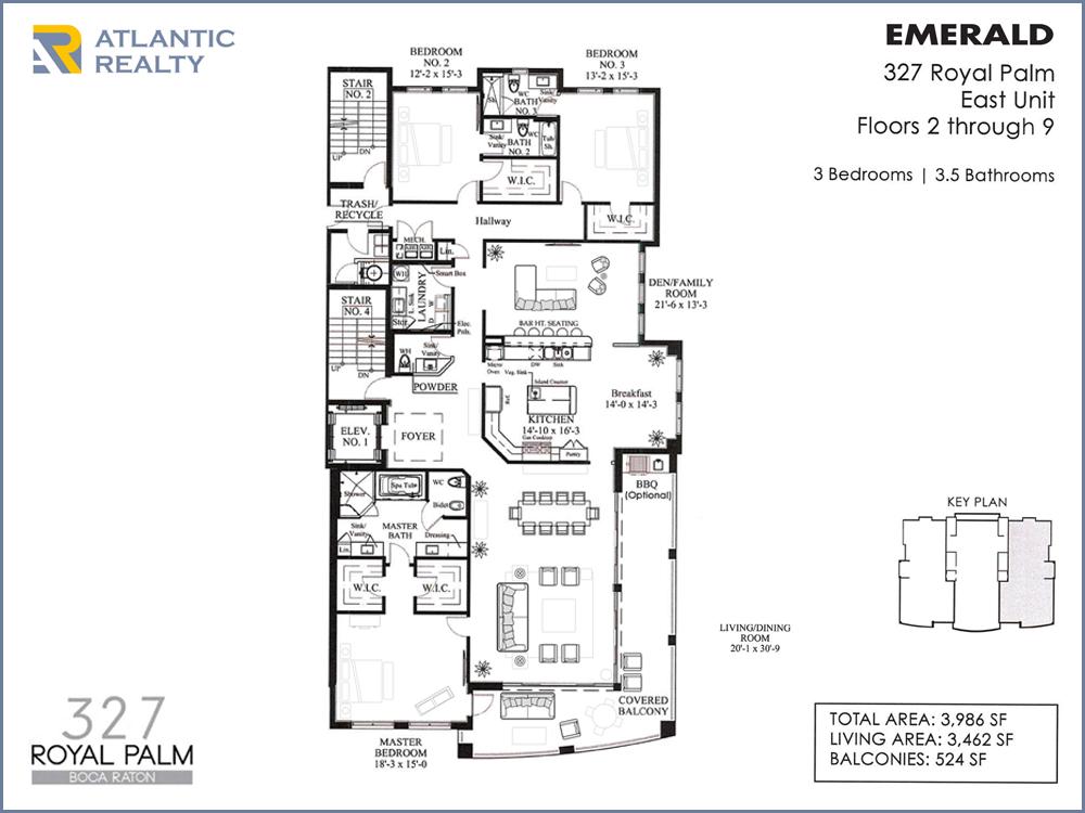 Boca raton 327 royal palm new miami florida beach homes for Emerald homes floor plans