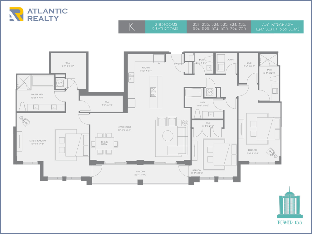 The new boca tower 155 new miami florida beach homes for Floor plans florida