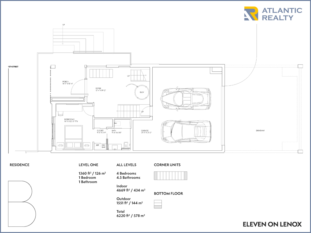 Eleven on lenox new miami florida beach homes for The lenox floor plan