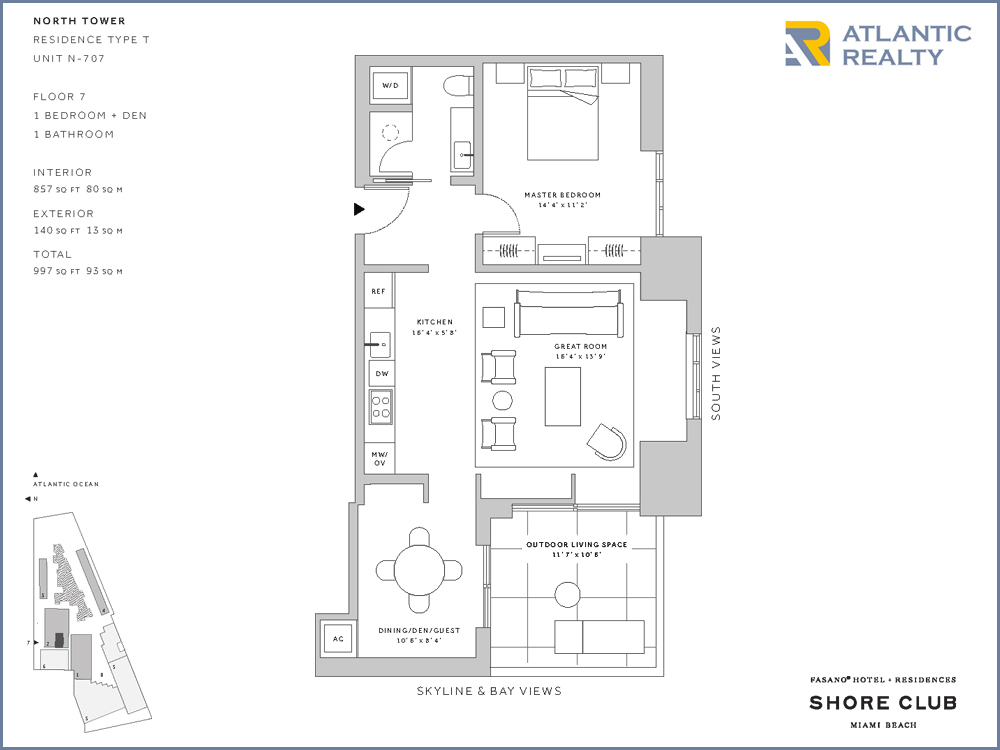 The shore floor plan fasano residences at shore club new for Atlantis homes floor plans