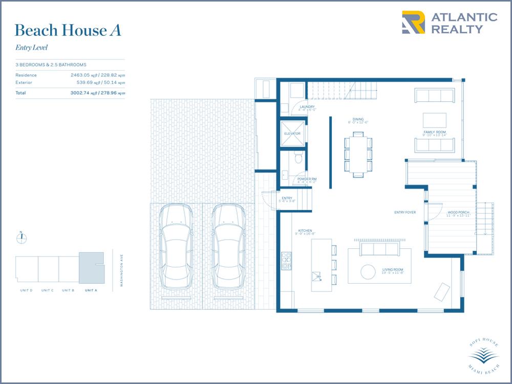 Miami beach house plans house plans for 1200 post oak floor plans