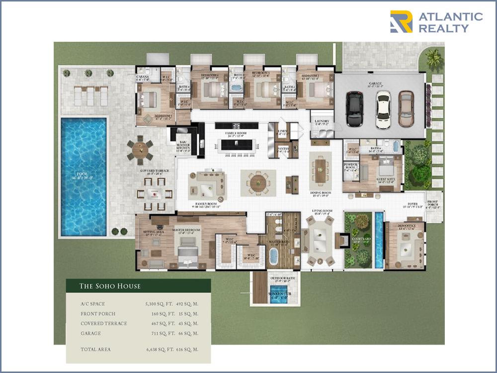 Oak park new miami florida beach homes for Miami house plans