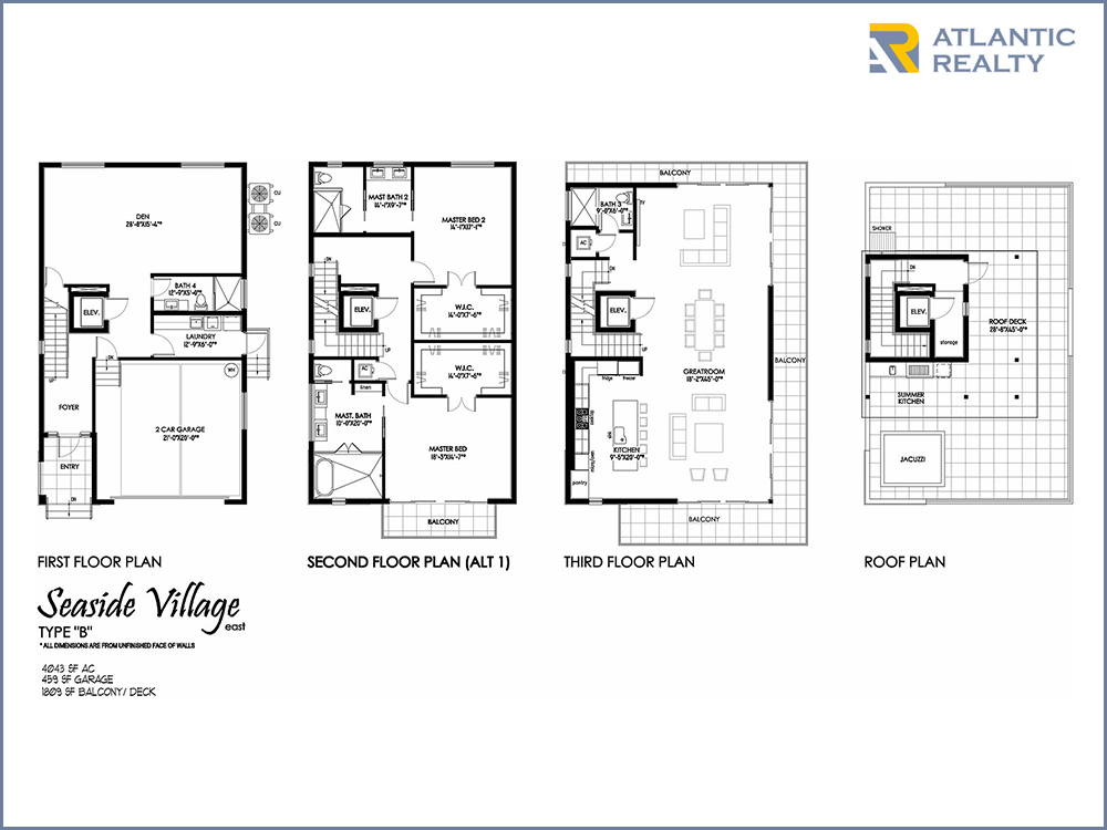 Seaside village new miami florida beach homes for Florida home builders floor plans