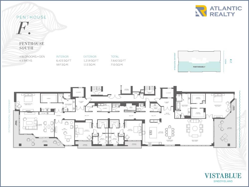 Pavilion miami beach floor plans for Beach floor plans