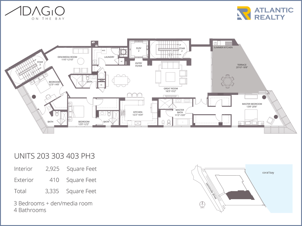 Adagio on the bay new miami florida beach homes for Bay to beach builders floor plans