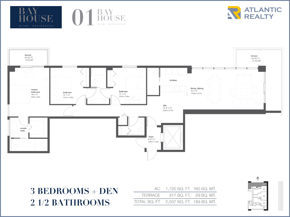 Bay house miami residences new miami florida beach homes for Miami mansion floor plans
