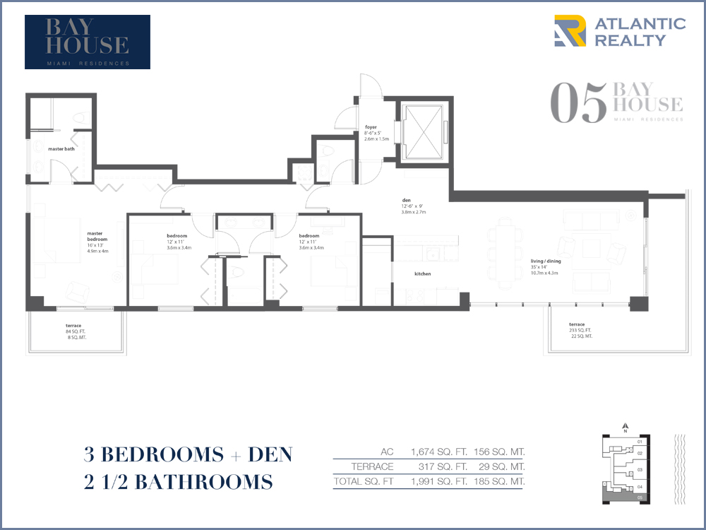 Bay house miami floor plans escortsea for Bay to beach builders floor plans