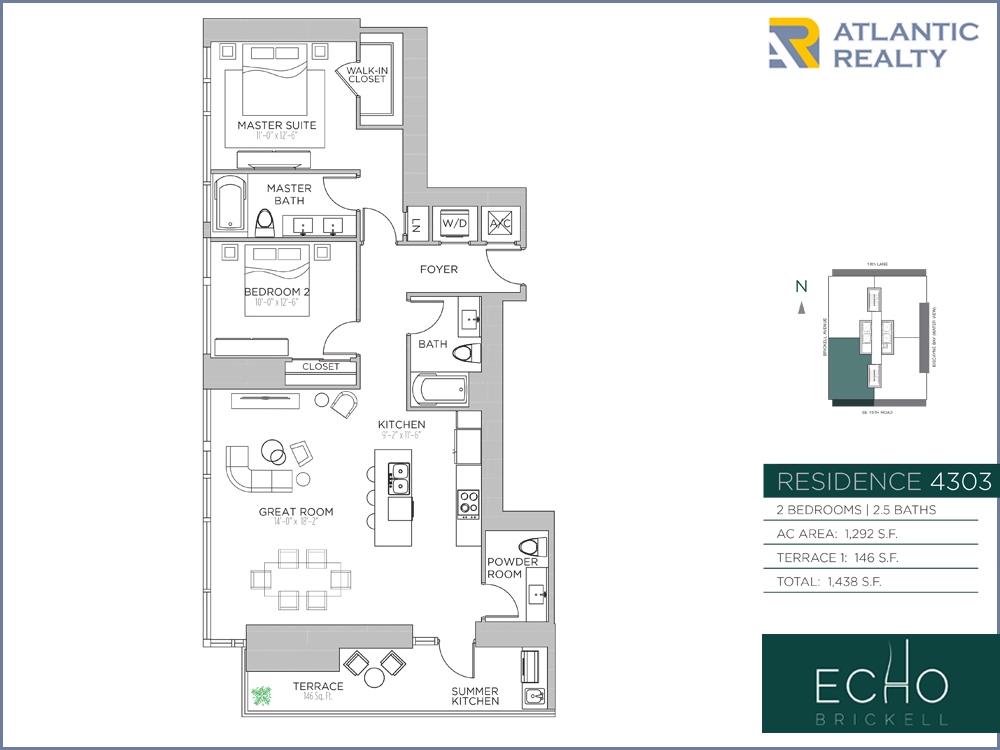 Echo Brickell Floor Plans100 Plans