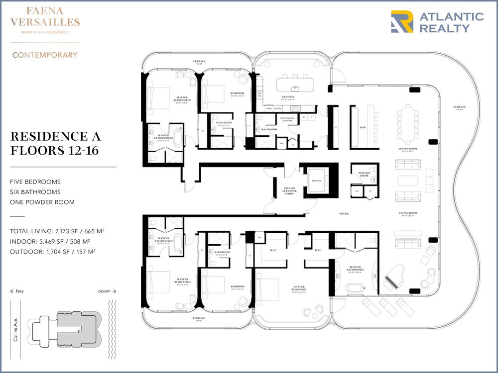 Faena Versailles Contemporary FLOOR PLANS