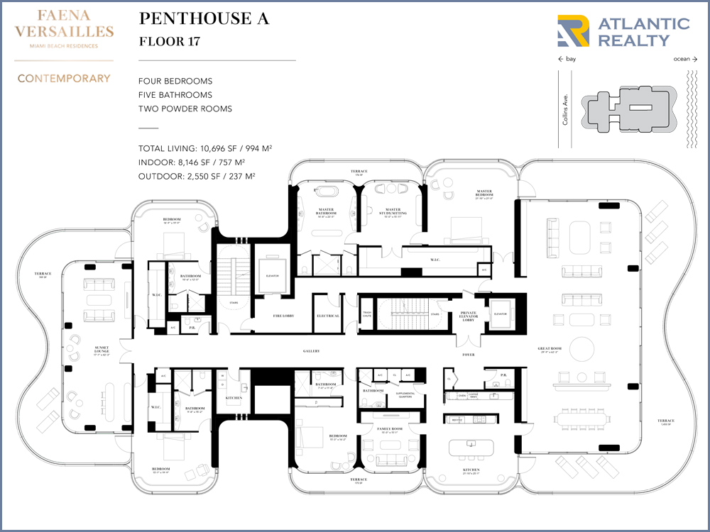 ... Faena Versailles Contemporary PH A Floor Plan