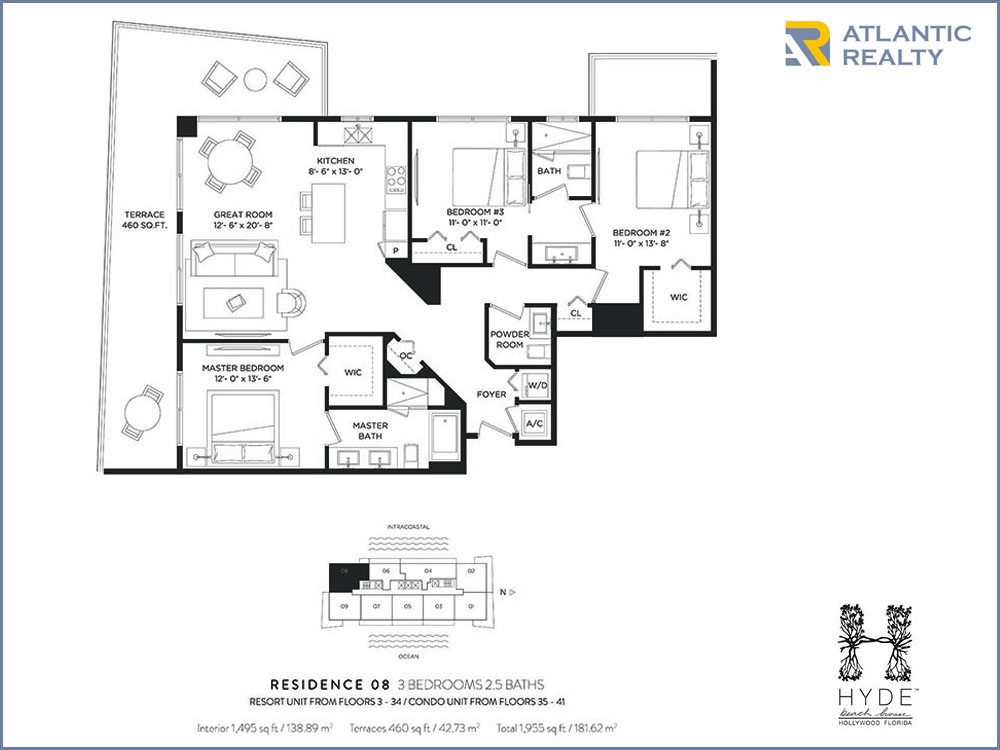 Hyde beach house new miami florida beach homes for Hyde homes floor plans