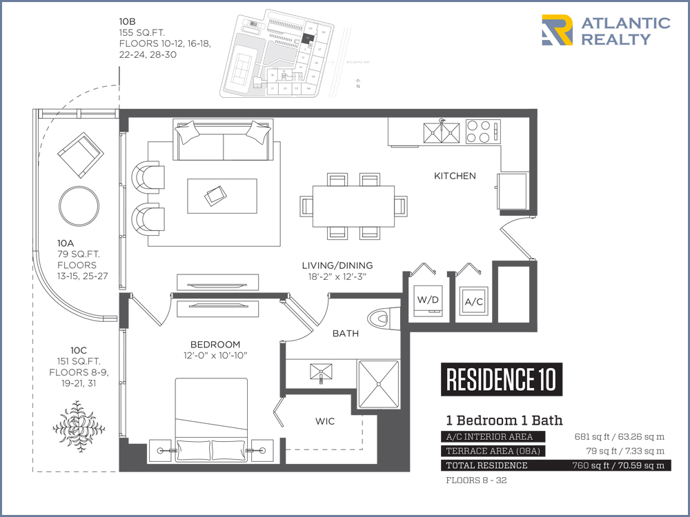 Hyde Midtown FLOOR PLANS