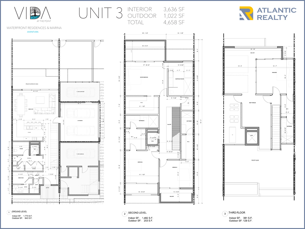 Vida at the point new miami florida beach homes for Beach house plans 3 floors