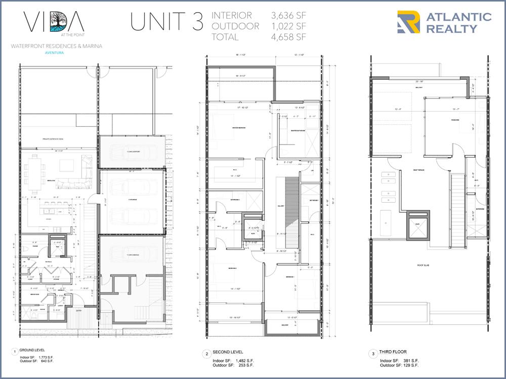 Vida at the point new miami florida beach homes for Beach house plans 3 floors